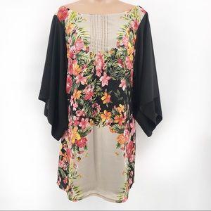 Under Skies Anthropologie Floral Print Dress